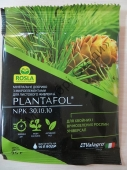 Безхлорне добриво Плантафол з мікроелементами вноститься на початку вегетації для хвойних та вічнозелених чагарників.