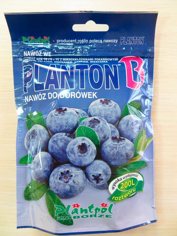 Розчинне кристалічне добриво Плантон (PLANTON®) «B» для чорниці