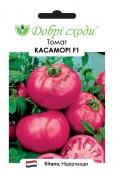 Рожевий, високорослий біф томат. Дуже смачний!